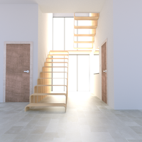 Modern stairwell render (pre revisions) by Ajax-Eleven