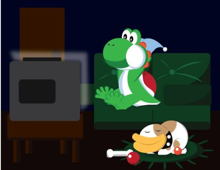 A Relaxed Yoshi by gemstonelover49