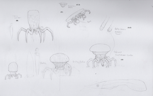 Alien Sketches by Animalistic-Artworks