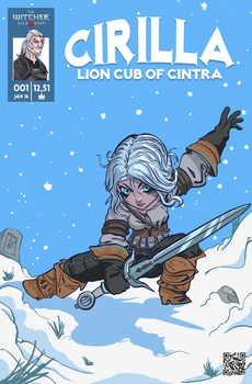 Cirilla Comicbook Cover by ElegantSkull