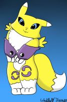 Cutesy Renamon by WaffleFox