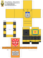 Paper Pezzy- Bumblebee 'G1' by CyberDrone