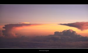 Sunset over Celebes Sea by wimkok