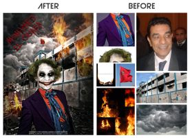 Mohamed El Ouafa (The Joker) Before and After by Hamdan-Graphics