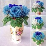 Something blue - A bouquet of beaded flowers by EverAfterDesigns