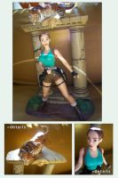 Action Figure Set - Lara Croft by AuraRinoa