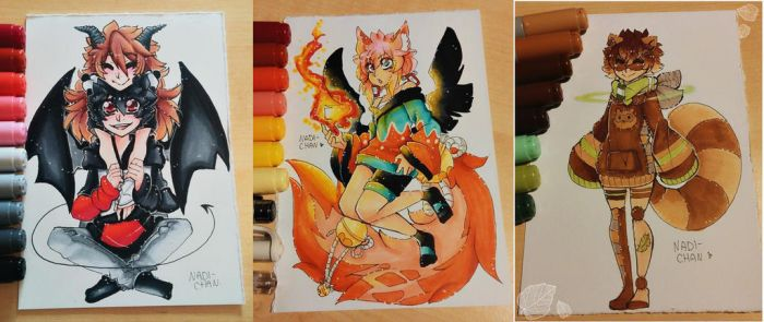 More traditional drawings by Nadi-Chan