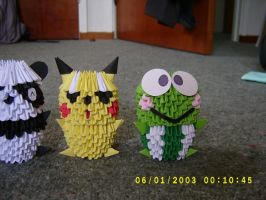 3d origami animals by juls2