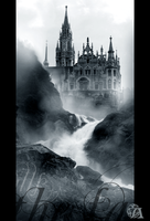 Fog over the falls by Azenor