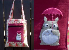 Totoro polka dot bag by yael360