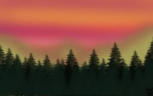 Mountain sunset background by Pingm2003