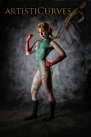 Cammy Body Paint Cosplay by oldmacman