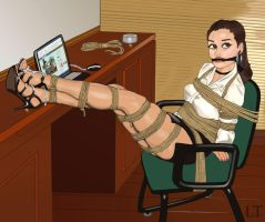 Tied up at the Office by LouisTarado