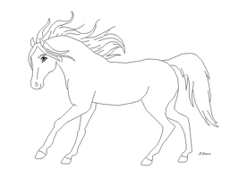 Horse Lineart by J-Dove