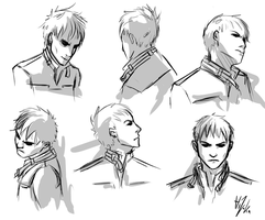 Dishonored: Outsider doodles by Hizoku-no-Oni