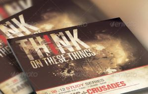 Think on These Things Church Flyer and CD Template by loswl