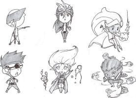 X-men Chibis by onin07