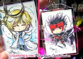 Fai and Kurogane Keychain  Commission by StarMasayume