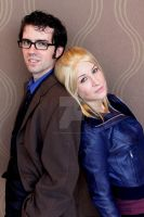 The Doctor and Rose Tyler by rhythminblue