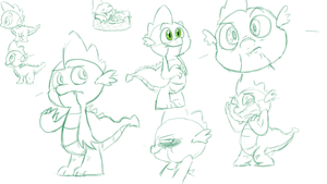 spike doodles shaboodles by Kitsune-chan86