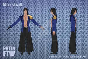 Commission - Marshall T-Pose sheet by PatinFTW