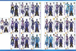 Power Rangers SUPER Megaforce Keys - Blue by LavenderRanger