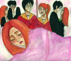 Ginny Dreams of Harry by kiwikewte