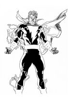 Daily Sketches Ink Alex Ross Captain Marvel by fedde