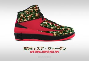 BAPE x AIR JORDAN 2 by BBoyKai91