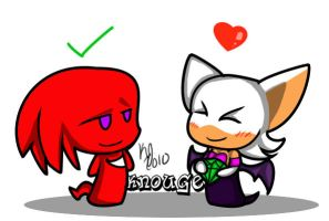 AT:Knuckles X Rouge by 3blurs