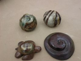 Small Raku Pieces by LovelyLittleLemon