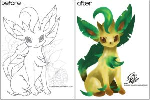 Leafeon by PawsShiEng