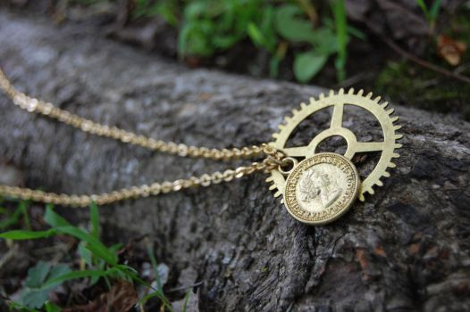 Steampunk Coin by Undrtheskysoblue