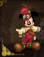 Steampunk Mickey by mjcole