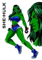 She-Hulk Sketch by DoctorZexxck