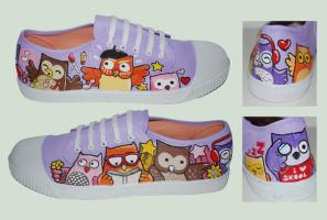 Owls Custom Shoes by ectomurf