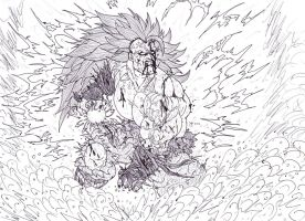 Goku Super Saiyan 3 Ultimate Power by Bender18