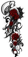 Rose tribal Tattoo by Patrike