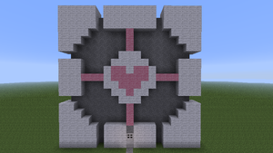 Minecraft Companion Cube by that1artguy