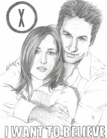 Mulder and Scully by E-H-Redlum