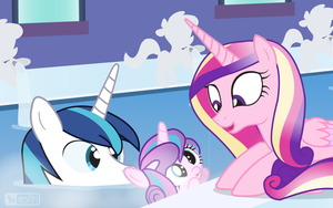 Flurry Heart's Bath Time by dm29