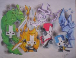 Castle crashers by TheMuseOfHell