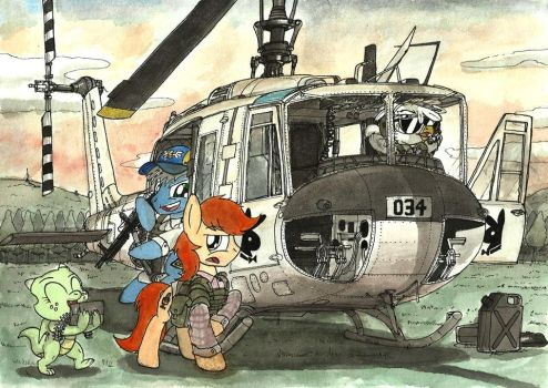 Four Friends Try To Play DayZ - partial color by buckweiser