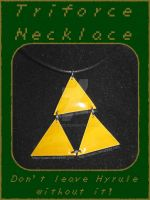 LoZ Triforce Necklace by quazo