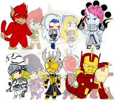 Assorted Chibis - AU Super Mega Final Ultra Form! by Dragon-FangX