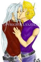 Sephiroth and Cloud Kiss by CLS-Azekiel