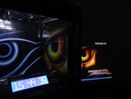Pc case with lcd-clock by serbian80