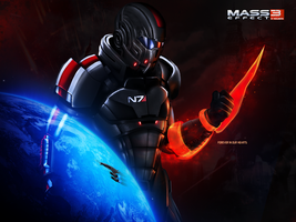Mass Effect 3 Forever Captain Shepard (2012) by RedLineR91