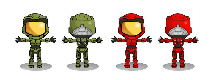HALO WARstories character temp by BLaKcatINK
