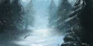 Snow and Trees by Nathan-Pierce